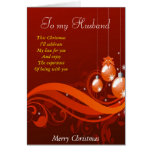 To my husband at Christmas Card
