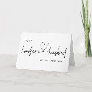 To My Husband On My Wedding Day Card