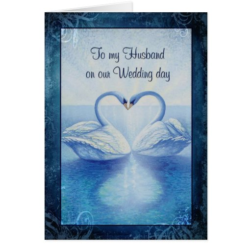 To my Husband on our Wedding day