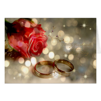 To my Husband Wedding Day Greeting Card