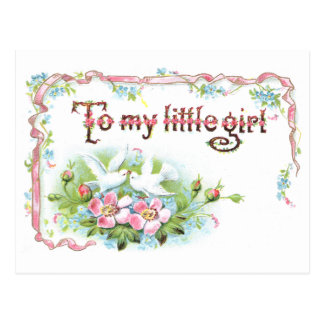 To My Little Girl Postcard