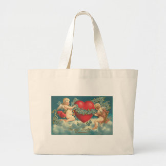 To My Love Cherubs with Heart Canvas Bag