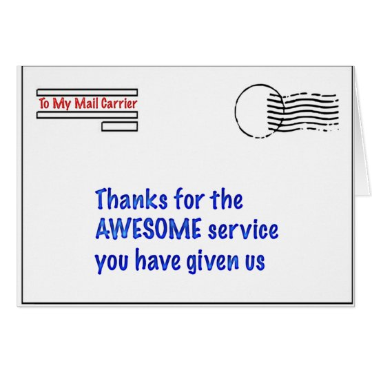 to my mail carrier card