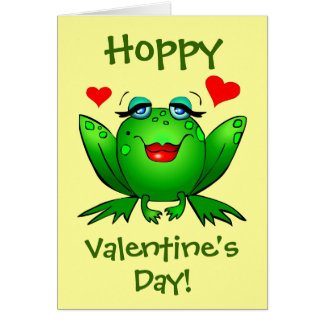 To My Prince Hoppy Valentines Frogs Cute Romantic Greeting Card