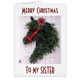 TO MY SISTER AT CHRISTMAS=SPECIAL MEMORIES GREETING CARD