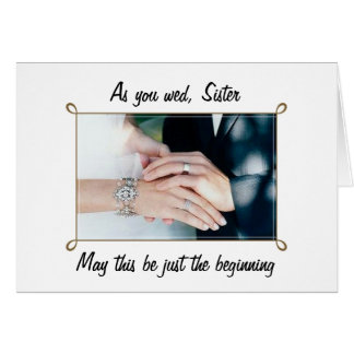TO MY SISTER ON HER WEDDING DAY CARD