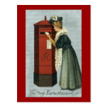 To My Sweetheart Woman Mailing Valentine Postcard
