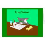 , To my Teacher Cards