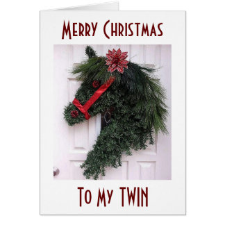 TO MY TWIN AT CHRISTMAS=SPECIAL MEMORIES GREETING CARD