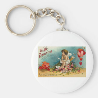 To My Valentine (10) Basic Round Button Key Ring