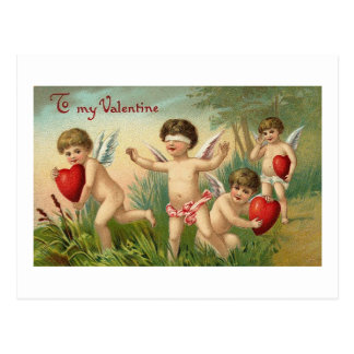 To My Valentine Blindfold Cupid Postcard