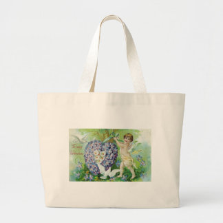 To My Valentine Cherub and Forget Me Nots Bag