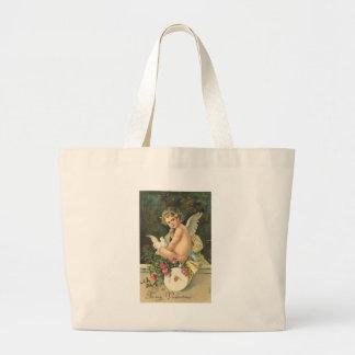 To My Valentine Cherub Canvas Bags