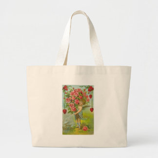 To My Valentine Cherub with Hearts and Flowers Bags