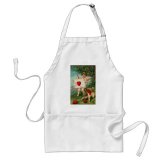 To My Valentine Cherub with Love Letter Adult Apron