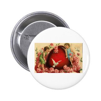 To My Valentine Cherubs and Pink Roses Pins