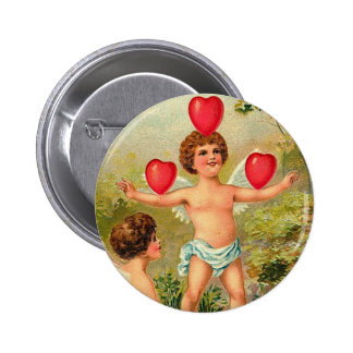 To My Valentine Cupid Juggling Hearts Buttons