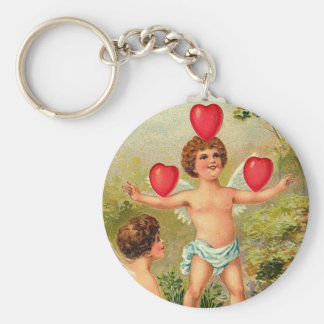 To My Valentine Cupid Juggling Hearts Key Chains
