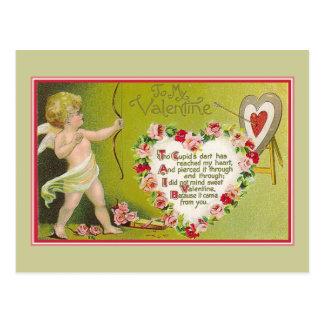 To My Valentine Cupids Dart Postcard