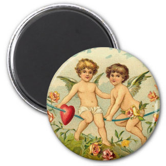 To My Valentine Cupids on a Rope of Hearts Magnets
