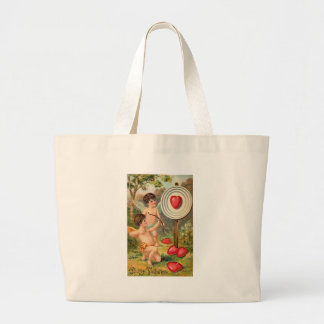 To My Valentine Cupids with Bow and Arrow Canvas Bag