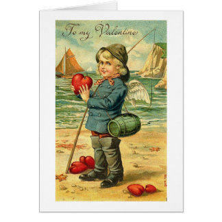 To My Valentine Fishing for Hearts Greeting Card