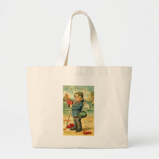 To My Valentine Fishing for Hearts Canvas Bag