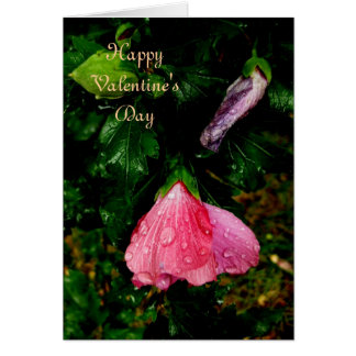 To My Valentine-Raindrops Flowers Greeting Card