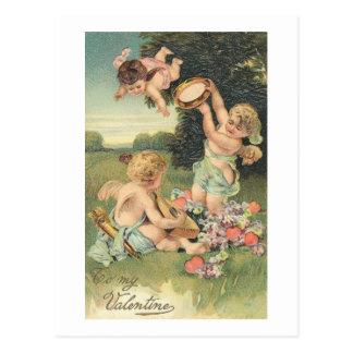 To My Valentine Sweet Cherubs Postcard