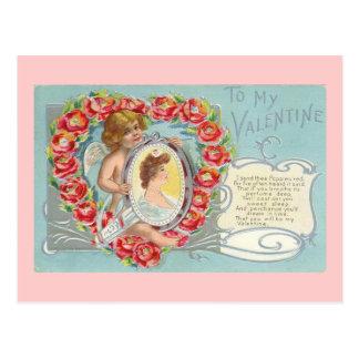 To My Valentine Valentine Poppies Postcards
