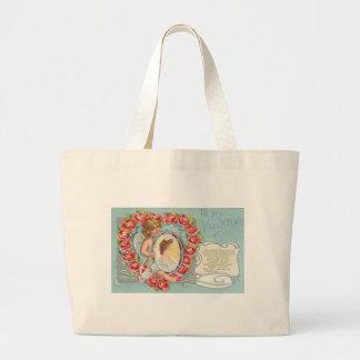 To My Valentine Valentine Poppies Canvas Bags
