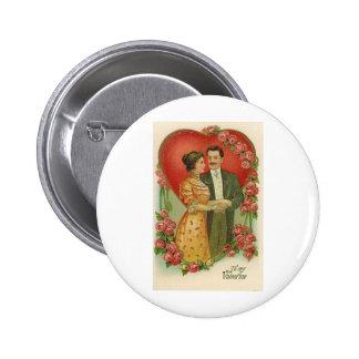 To My Valentine Vintage Couple 6 Cm Round Badge