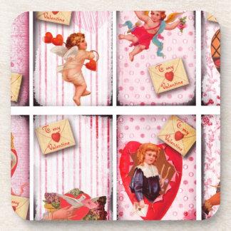 To My Valentine Vintage Valentine s Day Cupid Coaster
