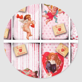 To My Valentine Vintage Valentine s Day Cupid Stickers