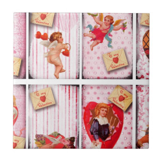 To My Valentine Vintage Valentine s Day Cupid Tile