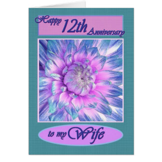 To My Wife - Happy 12th Anniversary Card