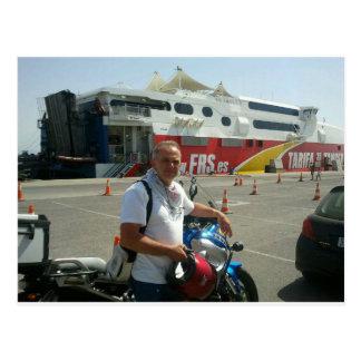 To North Cape (Norway), via Gibraltar. Postcard