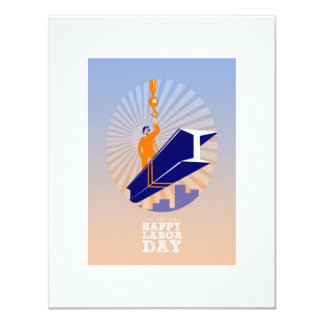 To our fellow workers Happy Labor Day Poster 11 Cm X 14 Cm Invitation Card