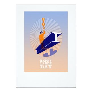 To our fellow workers Happy Labor Day Poster 11 Cm X 16 Cm Invitation Card