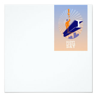 To our fellow workers Happy Labor Day Poster 13 Cm X 13 Cm Square Invitation Card