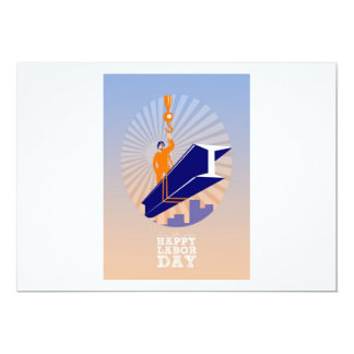 To our fellow workers Happy Labor Day Poster 13 Cm X 18 Cm Invitation Card