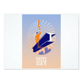 To our fellow workers Happy Labor Day Poster 17 Cm X 22 Cm Invitation Card