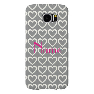 To Paris Love Hearts Pattern Samsung Galaxy S6 Cases