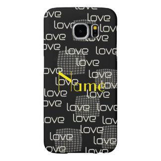 To Paris Love Text  Pattern Samsung Galaxy S6 Cases