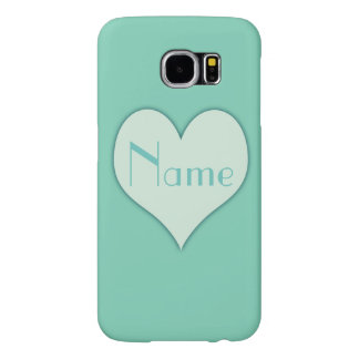 To Paris  Mint Heart Samsung Galaxy S6 Cases