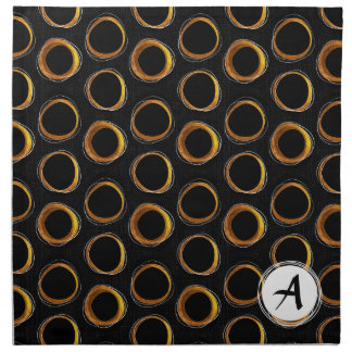 To pave Eclipse Mid-Century Modern Black & Gold Napkin