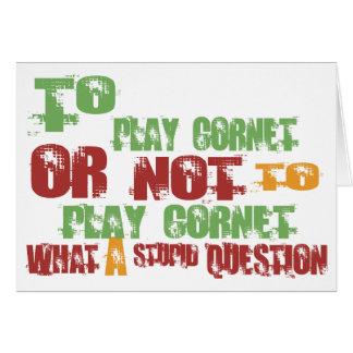 To Play Cornet Greeting Card