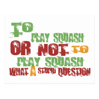 To Play Squash Postcard