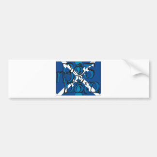 To Pog mA hone with SCO table flag Car Bumper Sticker