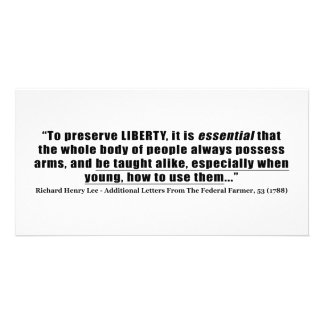 To preserve Liberty Quote by Richard Henry Lee Photo Greeting Card